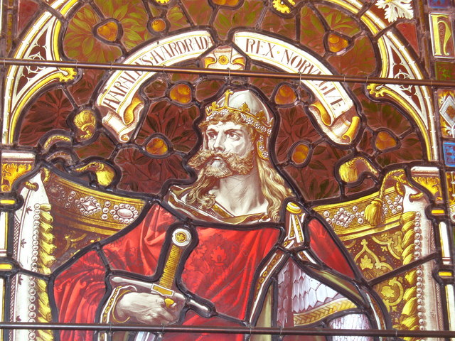 110814_Harald_Hardrada_window_in_Kirkwall_Cathedral