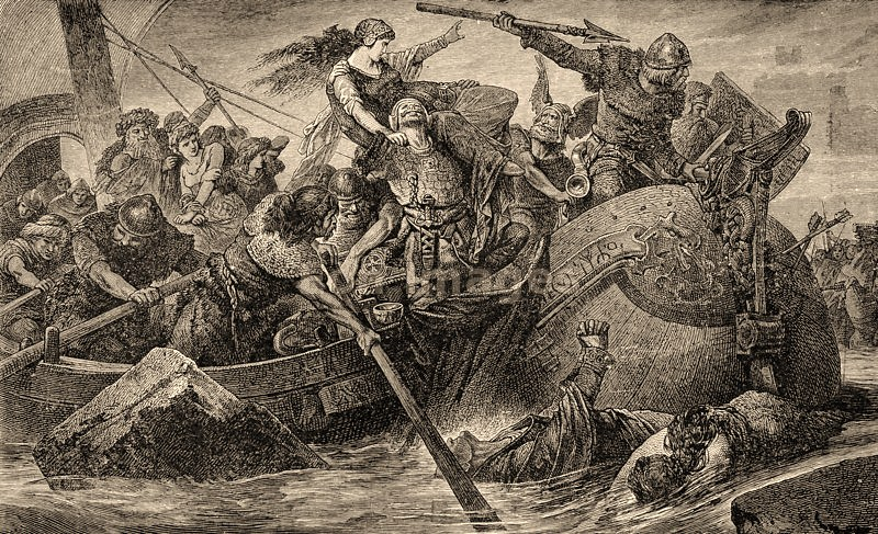 Marauding expedition of Northmen AKA Vikings