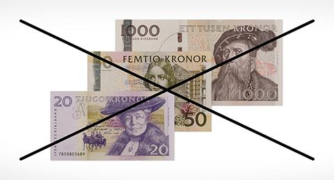 swedish ivalid bank notes