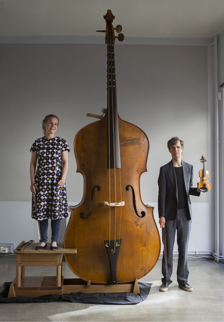 Norwegian Musician Plays the Largest String Instrument Ever Invented
