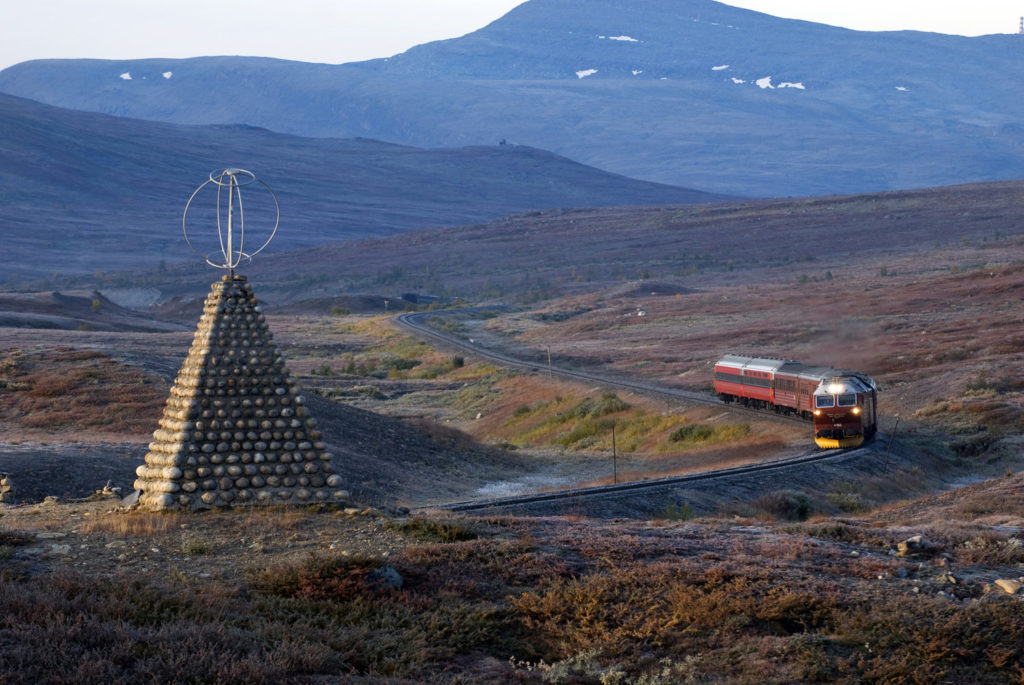 A Train Journey from Trondheim to Bodø in Norway