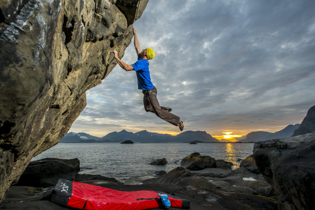 Climbing in the Lofoten Islands, Norway