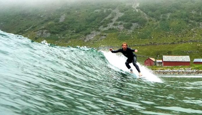 Exotic Surfing Paradise in Norway