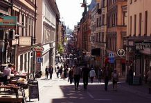 Queen's Street in Stockholm