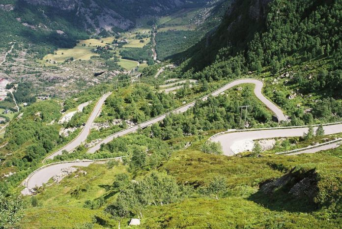 The Lyse Road in Norway