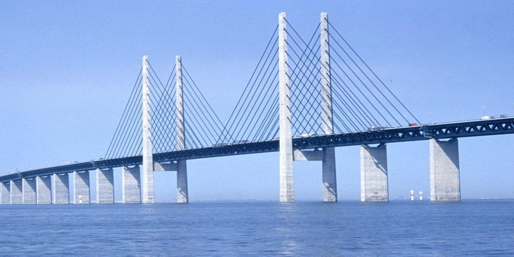 Over the Ôresund Bridge