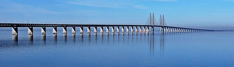 Over the Öresund Bridge