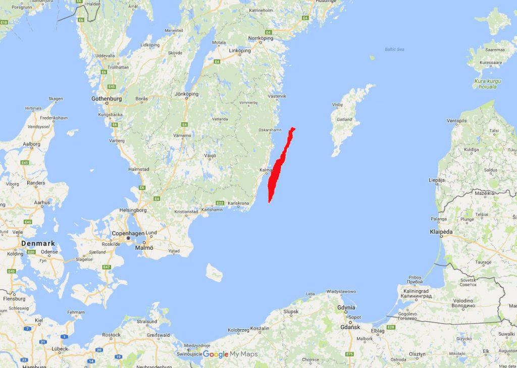 Один из самых посещаемых районов Швеции Одна из самых посещаемых областей Швеции Одна из самых посещаемых областей Швеции 050520  C3 B6land map 1024x729