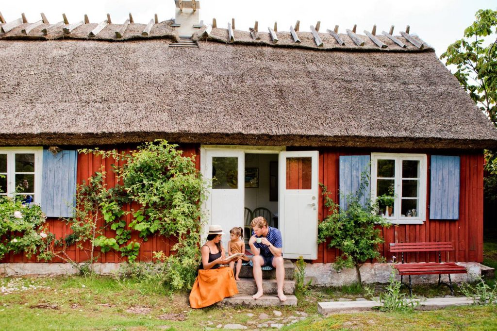 The Red Cottages in Sweden