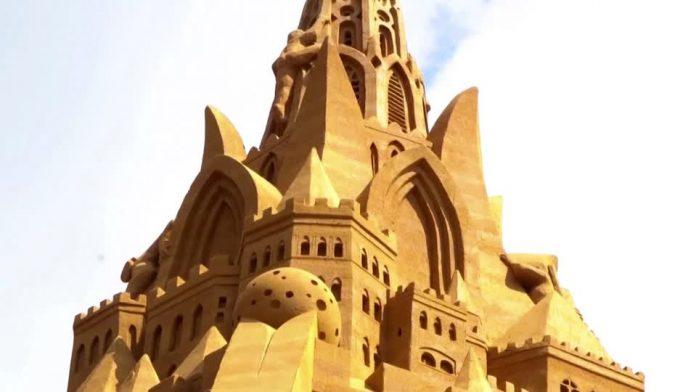 The World's Biggest Sandcastle in Denmark