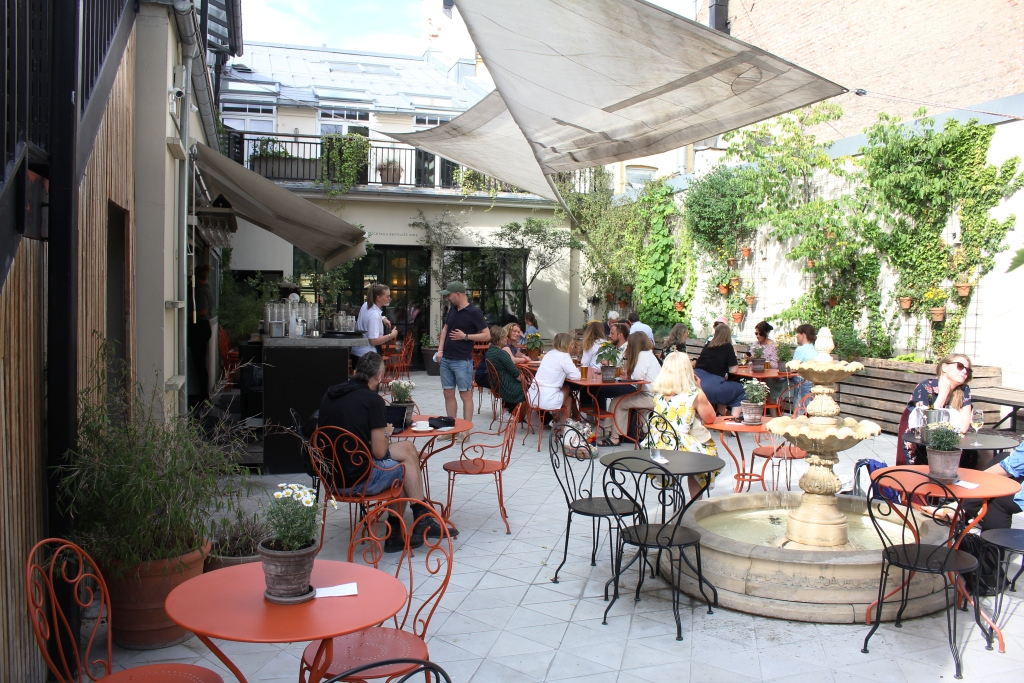Terrace With An Mediterranean Atmosphere In Downtown Oslo